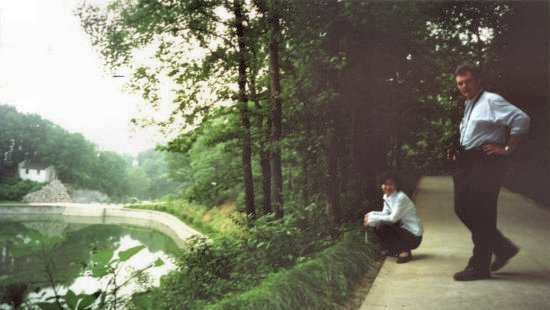 John's cousin Michael and translator near Lake Chauho in Heifei, Central China 2002. A favorite moment.
