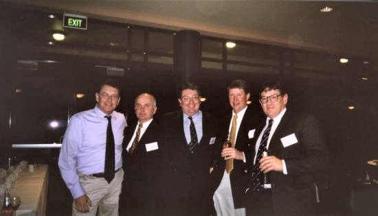 St. Ignatius College, Riverview. Sept 2003. Class of 1973, 30 years Reunion. From left: Property Developer, Accountant, Suburban Solicitor, Check-Pilot with Quantus, Orthopaedic Surgeon (& ARU Doctor).