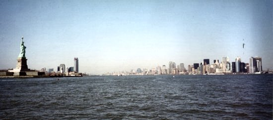 New Jersey & Manhattan in April 2003. From a ferry.