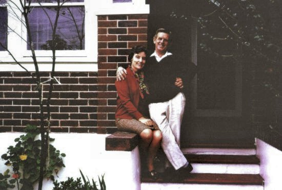 John's parents on steps of Central Ave.  Around 1968.