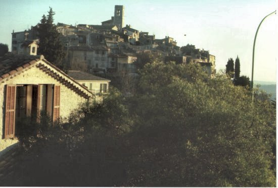 A favorite moment at St. Paul de Vence. France 1978. Near the Riviera homes of Chagael,  Matisse,  Dufy &  Degas,  Bonnard  &  Picasso.
