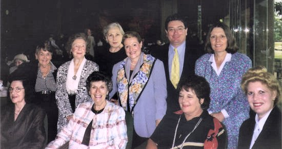 Members of the famous Woolloomooloo Branch of the Liberal Party, with The Hon. Bronwyn Bishop MP. 2001.