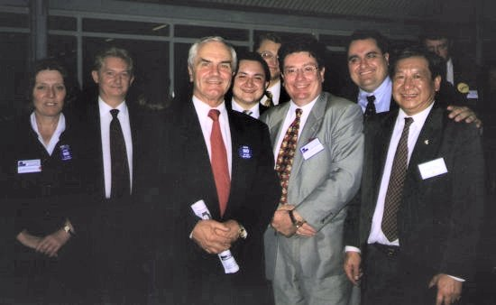 John with other Woolloomooloo Branch Members with the Hon John Cadman MHR. Federal Government  MP. .