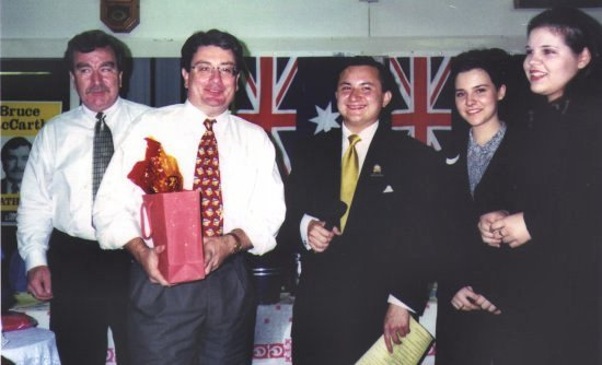 Strathfield SEC presentation ceremony with Local Member Bruce MacCarty MLA,  & Local Councillors. 1999.