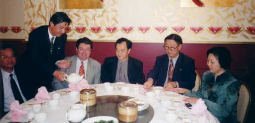 John with the Chinese Consul-General from Sydney, May 2002