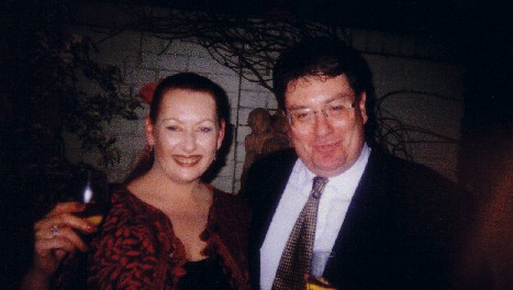 John with Opera Singer at Paddington, October 2002