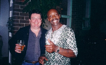 John with American Wrap-Star and D.J., December 2002