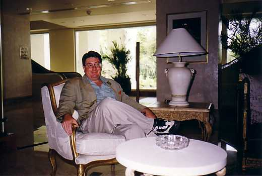 John Boyle relaxing at his Blue Mountain Estate