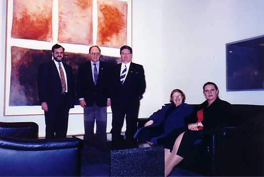Meeting with Austrade Officials. Australian Embassy, Beijing, China, August 2001