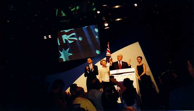 Photo taken by John Boyle of Prime Minister's Victory Speech, Wentworth Hotel, November 2001